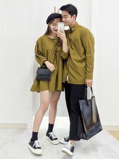Korean couple fashion outfits ideas for couples ♥ thời trang ulzzang, h Korean Outfits, Mode Outfits, Outfits For Teens, Girl Outfits, Casual Outfits, Fashion Outfits, Korean Clothes, Fashion Ideas, Korean Couple Fashion
