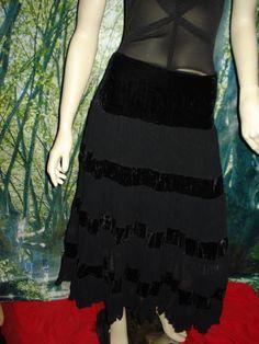 size XL hippy lace & velvet skirt  as new condition  $10.00  44cm waist  84cm long