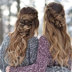 #fishtail in side braided hair | wavy #long hairstyles | prom | for girls and women | simple | for beginners | beautiful | bridal | elegant and french