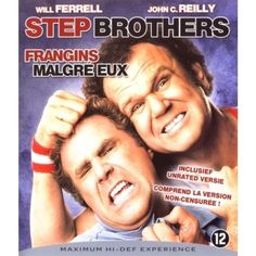 STEP BROTHERS BLU-RAY w/ WILL FERRELL & JOHN C. REILLY region-free UNRATED
