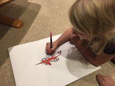 Liliana loves drawing unicorns