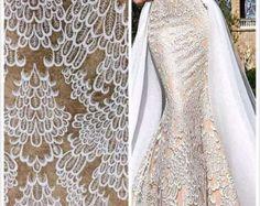 Mode Hochzeit Spitze Stoff Guipure Spitze Stoff von Qualitylace1