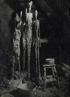 "europeansculpture:  ""Brassaï - Atelier d' Alberto Giacometti  """