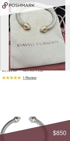 David Yurman bracelet Beautiful with pave set diamonds. David Yurman Jewelry Bracelets
