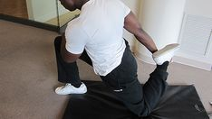 Hip Flexor stretch for to relieve tight hamstrings and back pain.