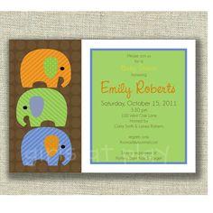 Baby Boy Shower Invitation Jungle Animal Print by girlsatplay, $12.00