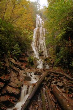 Mingo Falls in Cherokee - Great Smoky Mountains NC.