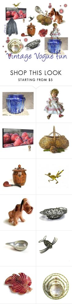 """""""Vintage Vogue Fun"""" by plumsandhoneyvintage ❤ liked on Polyvore featuring interior, interiors, interior design, home, home decor, interior decorating, Anchor Hocking, Noritake, vintage and autumn"""