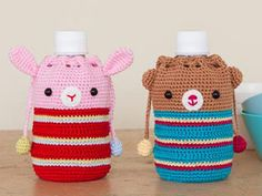 crochet bottle holders - Japanese