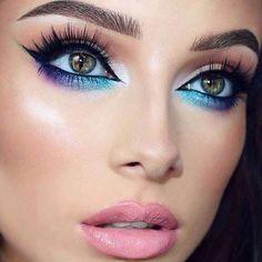 Galaxy makeup look: 21 cool ideas for the makeup of Galaxy Eye - Luise. - Galaxy Makeup Look: 21 cool ideas for the make-up from Galaxy Eye – Luise.site – Galaxy Make-up - Makeup Goals, Love Makeup, Makeup Inspo, Makeup Inspiration, Makeup Ideas, Makeup Geek, Mac Makeup, Makeup Eyeshadow, Makeup Tutorials
