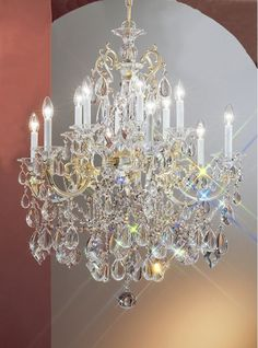 "Classic Lighting 57013-CHP 37"" Crystal Chandelier from the Via Venteo Collection Crystalique Indoor Lighting Chandeliers"