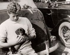 With a little friend at The Hague during his first tour of Europe in 1937.