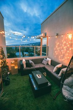 We wanted to turn our balcony into a serene little retreat, and helped us with a complete makeover! Check out our story to get a tour, or visit our site for more pics and info! Home Room Design, Home Interior Design, House Design, Interior Design Examples, Interior Design Inspiration, Outdoor Spaces, Outdoor Living, Outdoor Decor, Casa Loft