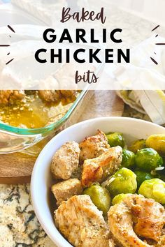 This baked garlic butter chicken bits recipe is a go-to favorite of mine because you only need a few minutes to prepare the entire meal. When I'm in a pinch, I turn to this easy rice bowl dinner idea and the kids absolutely love the flavor combos because they're both simple and familiar.