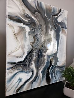 Excited to share this item from my shop: Gray scale white icy geode style abstract art resin painting on canvas Canvas Wall Art, Abstract Art Painting, Art Painting, Acrylic Art, Art, Night Art, Abstract, Canvas Painting, Resin Art Painting
