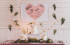 Heart themed cake table