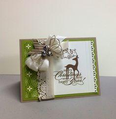 Dasher Christmas Card, Stampin Up
