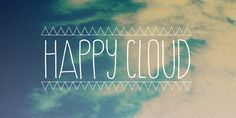 Happy Cloud, font by Cultivated Mind. Happy Cloud can be purchased as a desktop and a web font. Typography Letters, Graphic Design Typography, Lettering, Pretty Fonts, Cool Fonts, Fun Fonts, Create Font, Font Digital, Poster Fonts