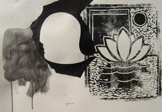 """andrea mattiello """"S.T.""""    tecnica mista su carta cm 50x35; 2012"""