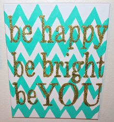 Chevron hand painted canvas quote sign by EverSoEmilyLynn on Etsy for Aubrey