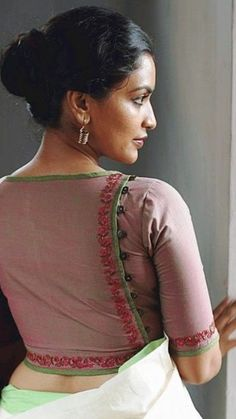 hobare Candles which reflect the seas Brocade Blouse Designs, Blouse Designs High Neck, Cotton Saree Blouse Designs, Simple Blouse Designs, Stylish Blouse Design, Designer Blouse Patterns, Bridal Blouse Designs, Latest Blouse Designs, Dress Patterns