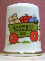 Cartoon Thimble Express Parcels Snail Mail Bone China England