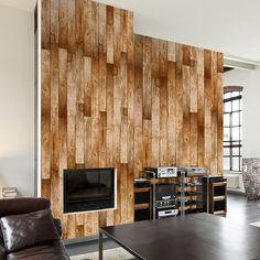 Russet Floor x Wallpaper Panel East Urban Home Colour: Brown Desktop Wallpaper Black, Geometric Wallpaper Murals, Glitter Wallpaper, Wallpaper Panels, Wall Wallpaper, Tile Panels, Design Repeats, Old Wall, Embossed Wallpaper