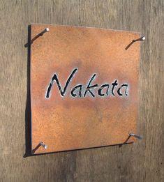 おしゃれな表札(鉄の表札)/抜き文字 Japanese Market, Room Signs, Restaurant Design, Ideal Home, Diy And Crafts, Home Improvement, Projects To Try, Signages, Exterior