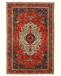 HAND KNOTTED WOOL BAKHTIAR RUG , 6'7 X 9'10