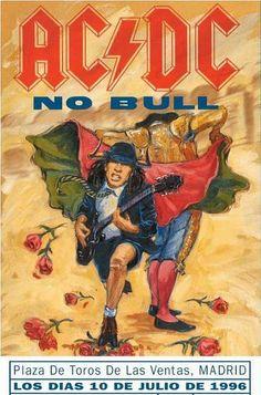 AC/DC Concert Posters | AC/Dc No Bull |