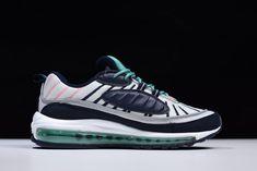 """4b94e2674d 2018 Nike Air Max 98 """"South Beach"""" Pure Platinum/Obsidian-Kinetic Green"""
