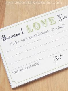 love coupon book printable for any occasion 4x6