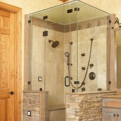Love the Natural Stone Entrance. More >>> http://bathroom-designideas.com/bathroom-shower-ideas/