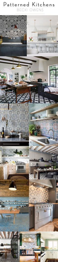 patterned kitchens b