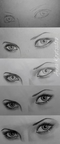 Eyes [ Tutorial ] by annakoutsidou.dev... on @deviantART www.SeedingAbunda... www.marjanb.mySha...