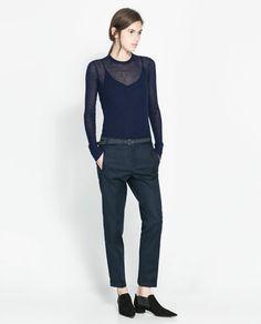 PANTALON TISSU DOUBLE ÉPAISSEUR - Pantalons - Femme - NOUVELLE COLLECTION | ZARA France