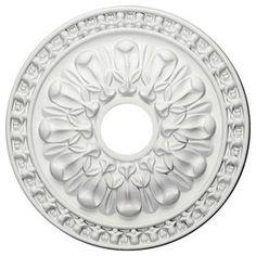 Ekena Millwork Warsaw 18-In X 18-In Polyurethane Ceiling Medallion Cm1