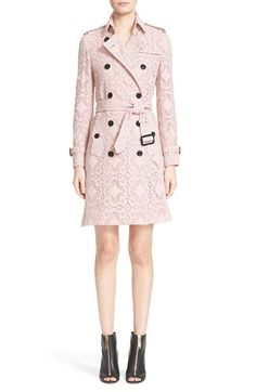 Burberry London 'Kensington' Cotton Lace Trench Coat available at #Nordstrom