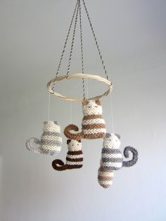 Reserved For Karla - Cat Baby Mobile, Crib Mobile, Cats, Eco Friendly, Nursery…