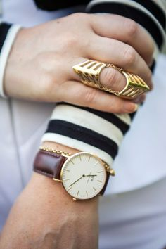 daniel wellington watch / asos ring