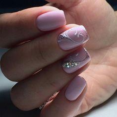 and Beautiful Nail Art Designs Elegant Nails, Stylish Nails, Fancy Nails, Bling Nails, Beautiful Nail Art, Gorgeous Nails, Nagellack Design, Pink Nail Art, Trendy Nail Art