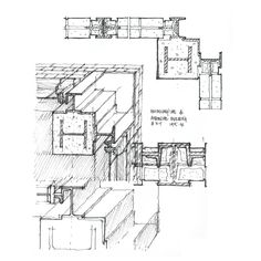 """plan and axonometric detail: """"The drawing is the fundamental communicative tool of the discipline – be it plan, section, elevation, reflected ceiling plan, or axonometric. As architects, we draw."""""""