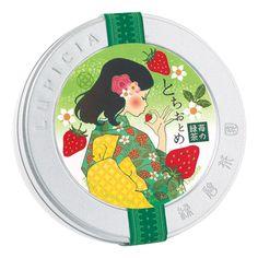 とちおとめ  ~苺の緑茶~ 50gデザイン缶入