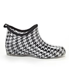 a743573f3eeb1 Love this Henry Ferrera Black  amp  White Houndstooth Ankle Rain Boot by  Henry Ferrera on