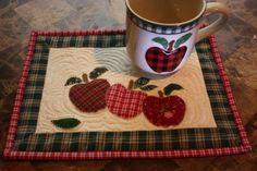Apple Mug Rug and Matching Mug #autumn