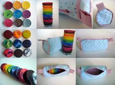 Cylindrical Pencil Case - Perfect for Homemade Cupcake Tin Crayons!