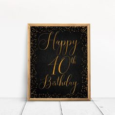 Items similar to Happy Birthday Sign, Cheers to 40 Years, Anniversary Sign, Confetti Gold Birthday Party Decoration, Birthday décor on Etsy 40th Birthday Party Themes, Happy 80th Birthday, Birthday Cheers, Birthday Party Decorations, Happy 50th, Anniversary Gifts For Parents, 70th Anniversary, As You Like, Sign