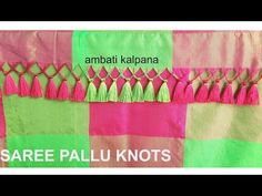 How to make Latest Saree Pallu Knots at home Saree Tassels Designs, Saree Kuchu Designs, Blouse Designs Silk, Rangoli Designs, Silk Thread Jhumkas, Silk Thread Bangles, Thread Jewellery, Tatting Necklace, Baby Girl Dress Patterns