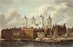 St. Johns Church Westminster, 1815 (w/c on paper) Wall Art & Canvas Prints by Thomas Hosmer Shepherd
