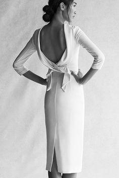 Wedding Dresses: Sixties style sheath // via Rent the Runway
